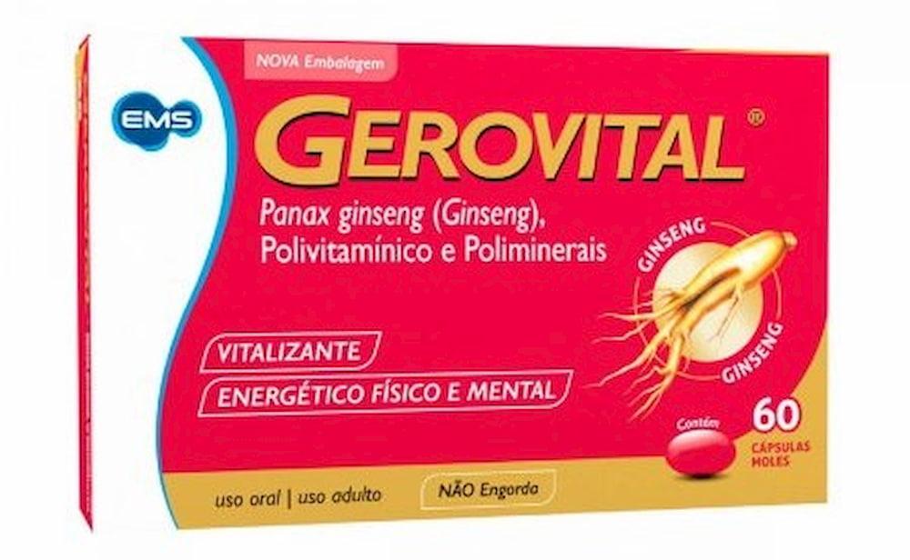 Gerovital, Panax ginseng de 60 cápsulas