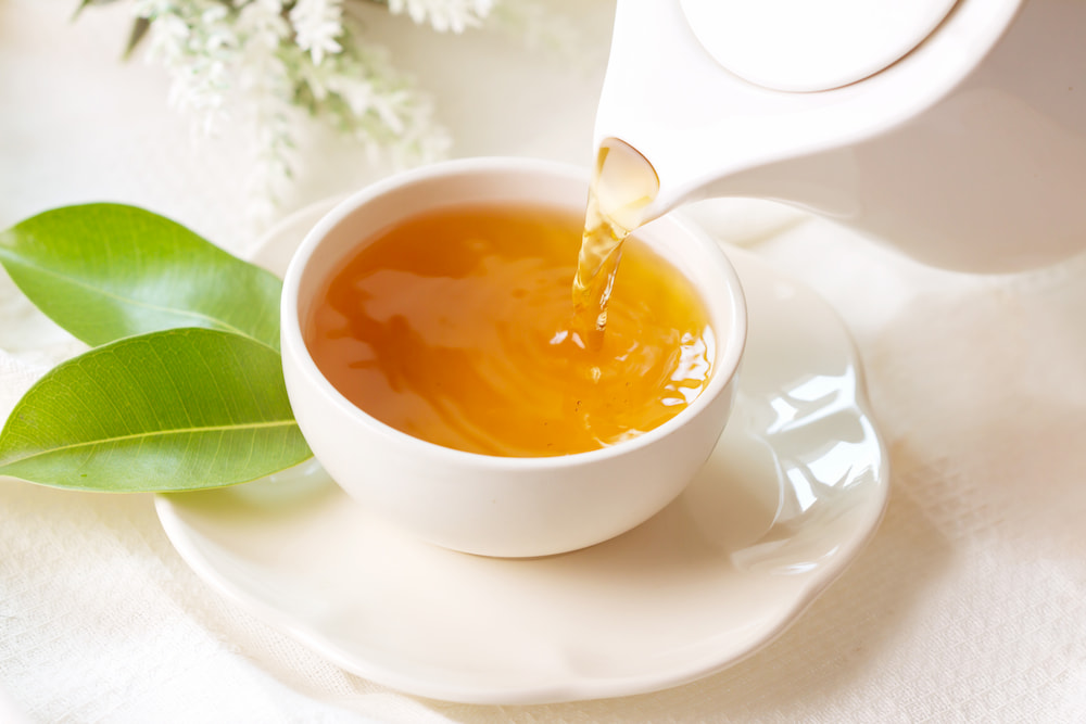 xícara chá preto